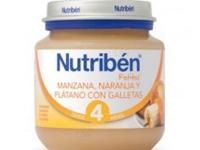 NUTRIBEN POTITO MANZANA, NARANJA Y PLÁTANO CON GALLETAS 130 GR + 4M