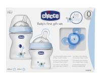 CHICCO SET INICIO BIBE 250 ML +150 ML+ CHUPE AZUL